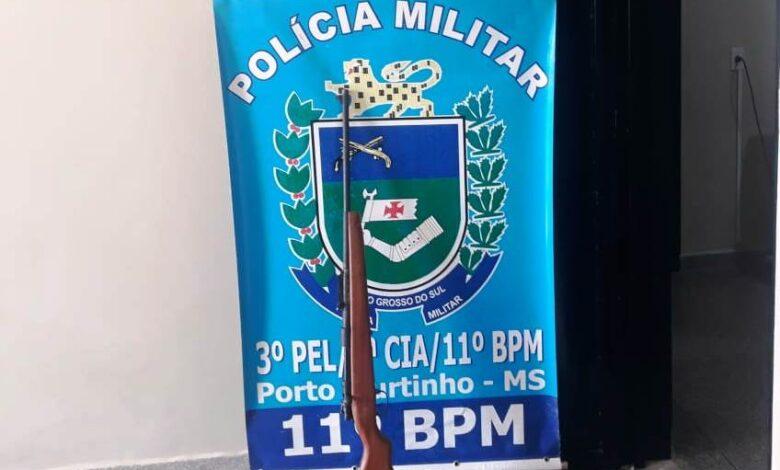 Polícia Militar, em conjunto com Polícia Civil, apreende Arma de Fogo em Porto Murtinho |
