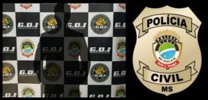 Policial civil prende em flagrante suspeito por invasão de domicílio, ameaça e dano – POLÍCIA CIVIL