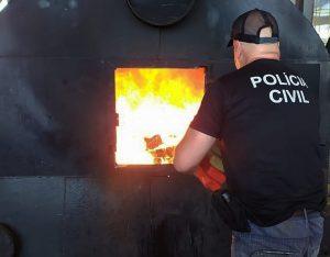 Polícia Civil incinera mais de 4 toneladas de drogas em Bataguassu