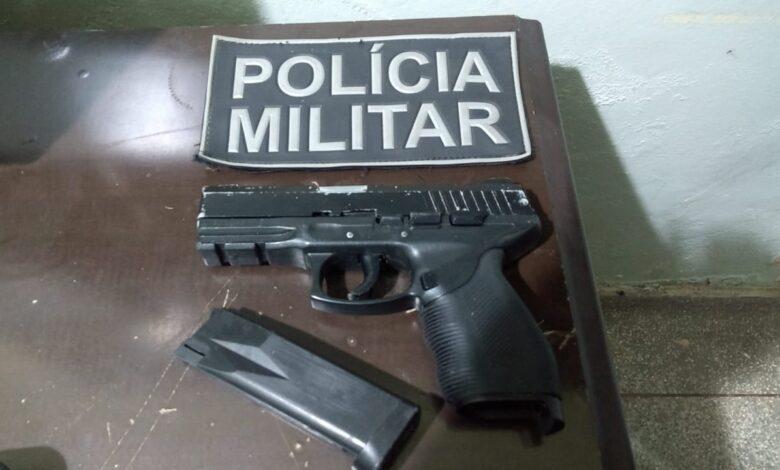 Polícia Militar apreende simulacro de arma de fogo em Aparecida do Taboado |