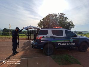 Polícia Militar de Paraíso das Águas realiza escolta de preso. |