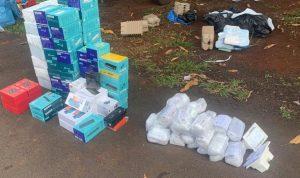 Foto de Polícia Militar apreende produtos de descaminho e contrabando trazidos do Paraguai |