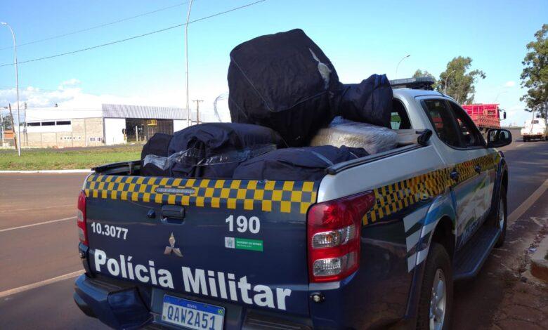 Polícia Militar apreende produtos de descaminho que seguiam em ônibus intermunicipal |
