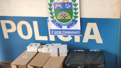 Foto de Polícia Militar do Distrito de Nova Itamarati apreende contrabando de cigarro |