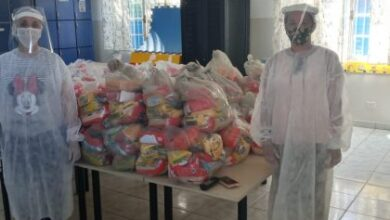 Foto de Profissionais da REME, em especial o administrativo, se unem para entregar quase 14 mil kits alimentares