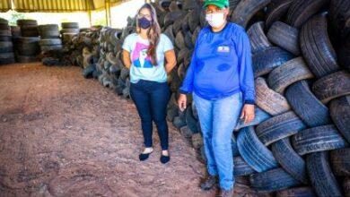 Foto de ECOPONTO –  Descarte correto de pneus auxilia no combate aos focos de Dengue no Município