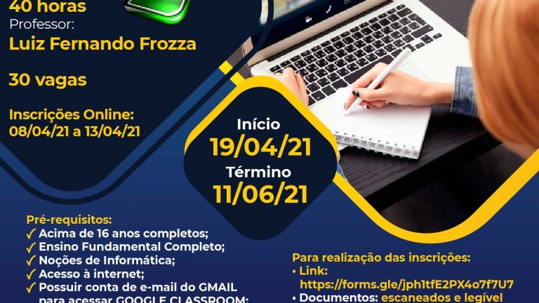 Funsat abre 30 vagas para o curso de Introdução ao Excel, 100% EAD e gratuito | CGNotícias