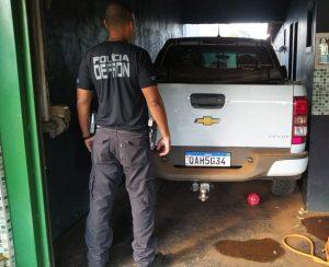 Polícia Civil apreende camionete furtada que seria utilizada para o transporte de drogas