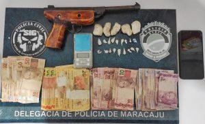 Foto de Polícia Civil apreende em flagrante adolescente por tráfico de drogas e por posse de arma de fogo