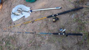 Foto de Polícia Militar Ambiental de Cassilândia prende e autua um homem e uma mulher por pesca predatória ao capturar pescado abaixo da medida permitida no rio Aporé |