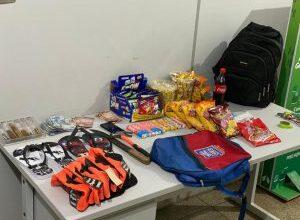 Foto de Polícia Militar em Três Lagoas autores de furto em flagrante. |