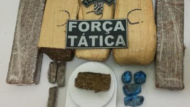Foto de Policiais Militares da Força Tática apreendem dois traficantes pontos de vendas em Fátima do Sul |