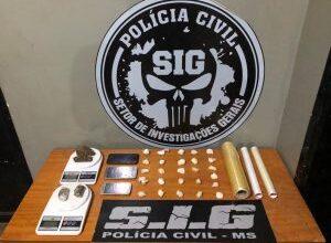 Foto de Dois suspeitos por tráfico de drogas são presos por policiais civis em Aparecida do Taboado