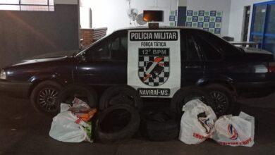 Foto de Operação Hórus – Em Naviraí, Polícia Militar apreende produtos descaminhados |