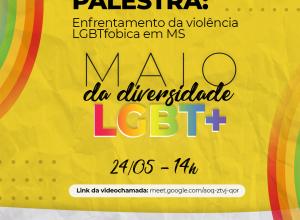 Foto de Palestra com o tema enfrentamento da violência LGBT em homenagem ao mês da diversidade pode ser acompanhada on-line