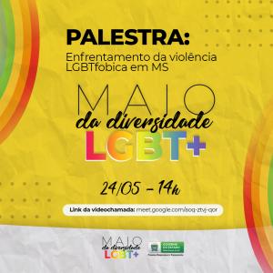 Palestra com o tema enfrentamento da violência LGBT em homenagem ao mês da diversidade pode ser acompanhada on-line