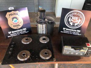 Polícia Civil prende suspeito de furto e recupera objetos em Anastácio
