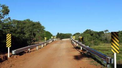 Foto de Ponte do Córrego Lagoa Amarela está 100% concluída