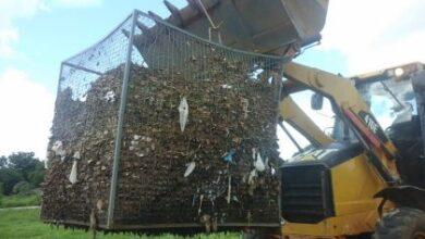 Foto de Cesto de contenção de resíduos é furtado da Segunda Lagoa