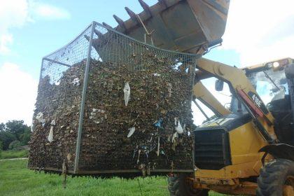 Cesto de contenção de resíduos é furtado da Segunda Lagoa