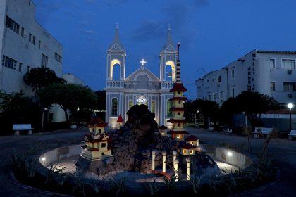 Com mais de 80% de obra finalizada, reforma e revitalização da Igreja e Praça Santo Antônio serão finalizadas este mês