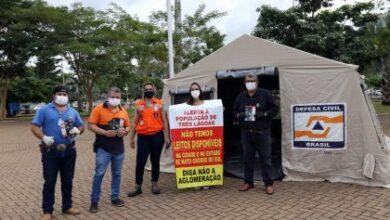 Foto de Panfletagem leva informação sobre a atual situação da sáude em Três Lagoas e conscientização sobre uso de máscara e demais medidas contra COVID-19