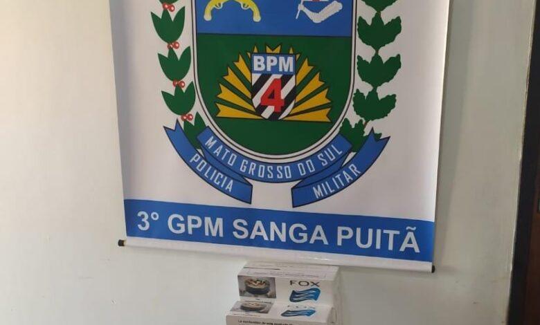 Polícia Militar apreende 150 pacotes de cigarros em Sanga Puitã |