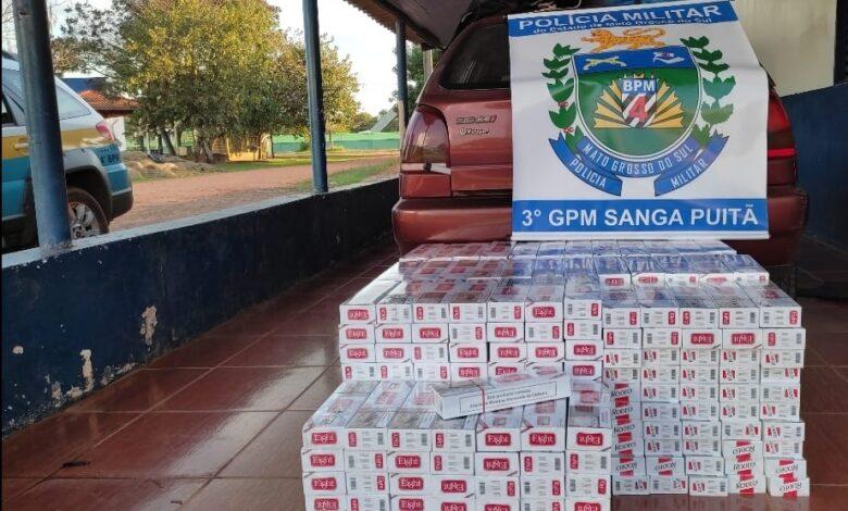 Polícia Militar de Sanga Puitã apreende cigarros contrabandeados  