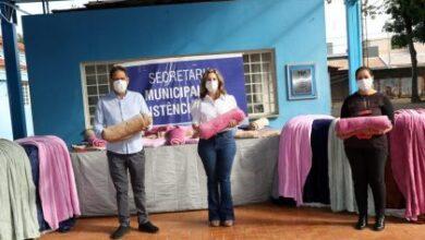 Foto de Sicredi, Senac e Governo do Estado fortalecem ações da Assistência Social com doações de kits higiene, agasalhos e cobertores