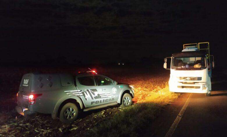 Caminhão que seguia para Dourados com mais de seis toneladas de maconha foi apreendido pelo DOF durante a Operação Hórus |