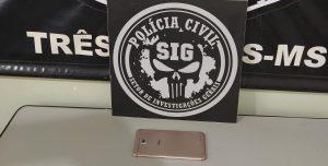 Policiais civis recuperam celular roubado em fevereiro, em Três Lagoas