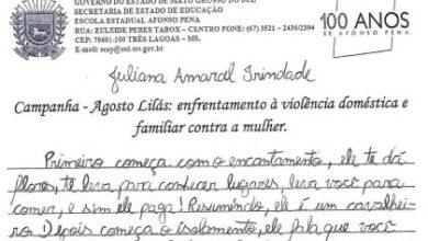 Foto de Alunas de escolas de Três Lagoas escrevem sobre a importância da Campanha Agosto Lilás para diminuir a violência contra as mulheres